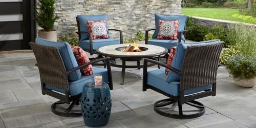 5-Piece Fire Pit Patio Sets from $374 Shipped on HomeDepot.com (Regularly $500+)