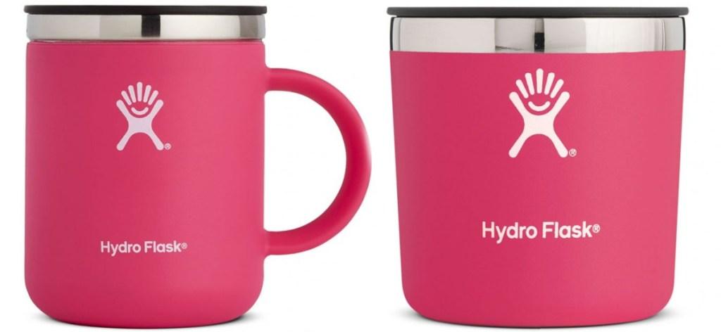 Pink Hydro Flask Mugs