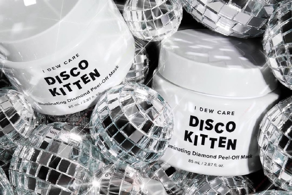 i dew care disco kitten mask with disco balls