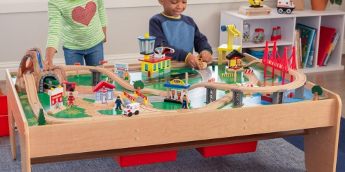 KidKraft Train Table Just $85 Shipped on Walmart.com (Regularly $230) | Includes 120 Accessories!