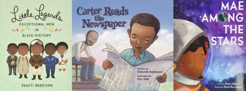 Little Legends, Carter Reads the Newspaper, Mae Among The Stars book covers