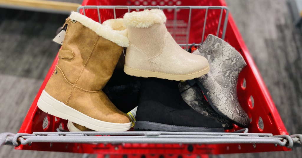 kids boots in target cart