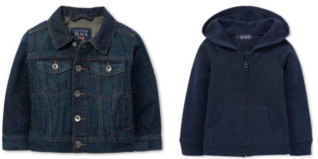 kids jackets jean jacket and fleece jacket