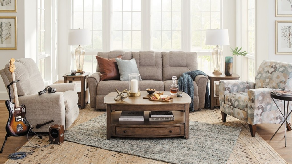 living room furniture in neutral colors