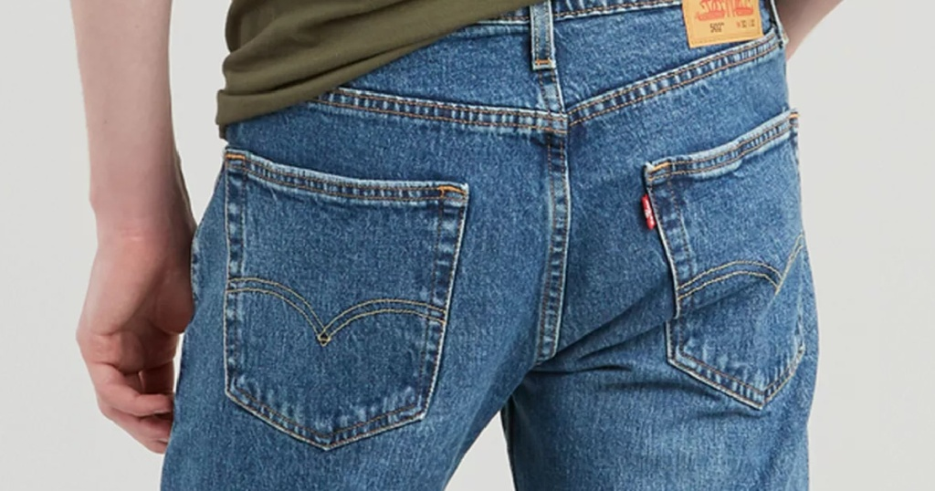 back of levis jeans