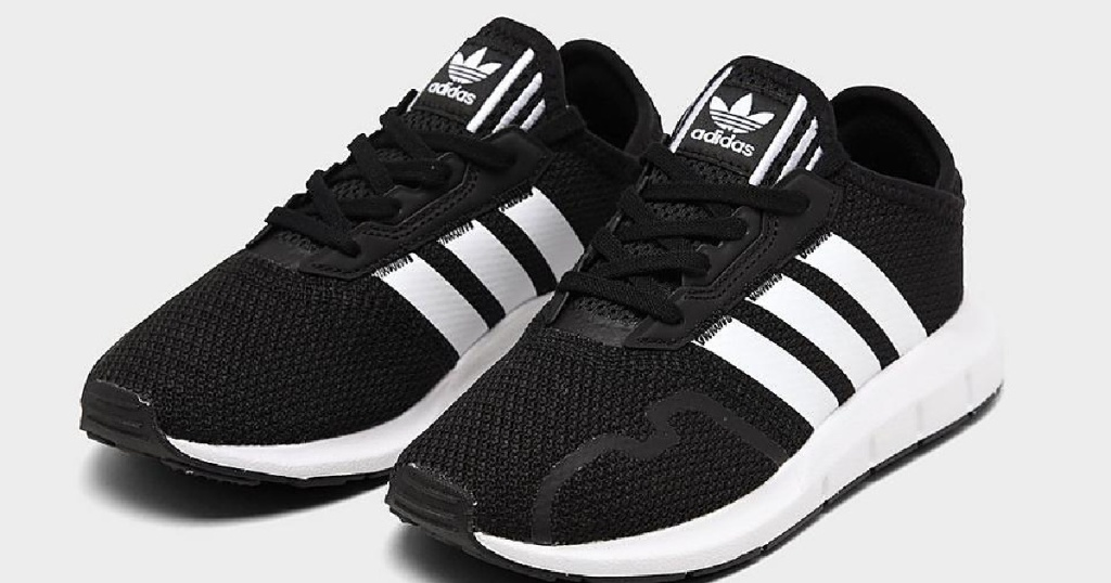 little kids adidas black and white