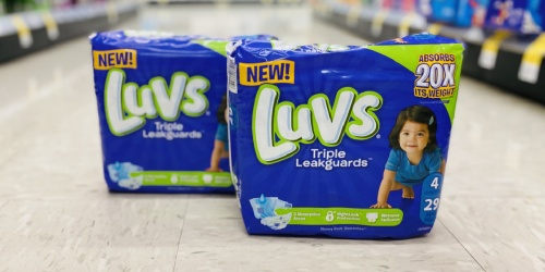 FOUR Luvs Jumbo Pack Diapers Only $13.50 After Cash Back at Dollar General | Today, 2/27 Only!