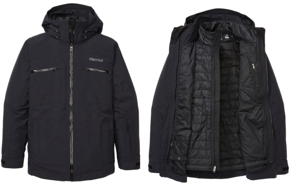 marmot mens jacket opened and closed