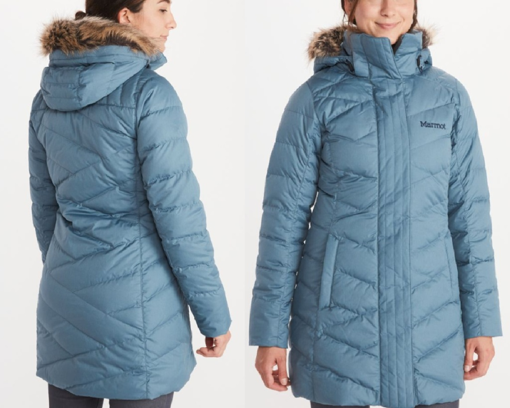 marmot womens jacket front and back