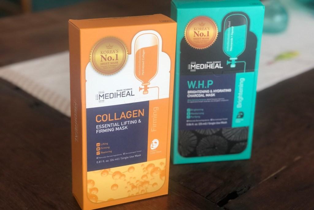 two boxes of mediheal masks