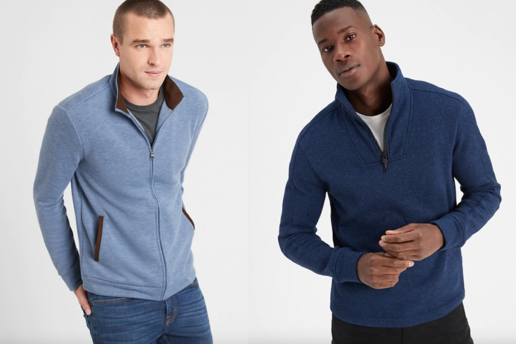 mens jackets light blue and navy