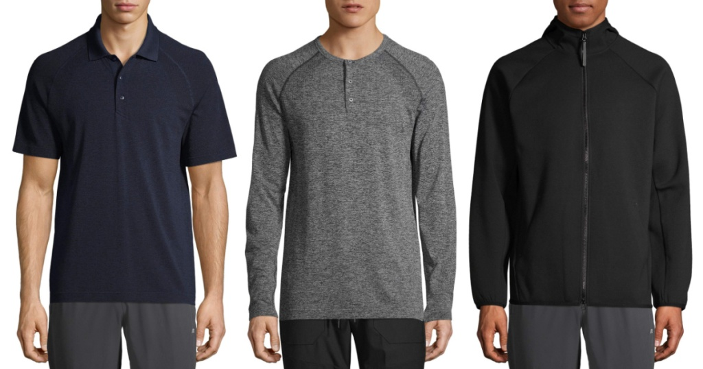 men's russell clothing on models