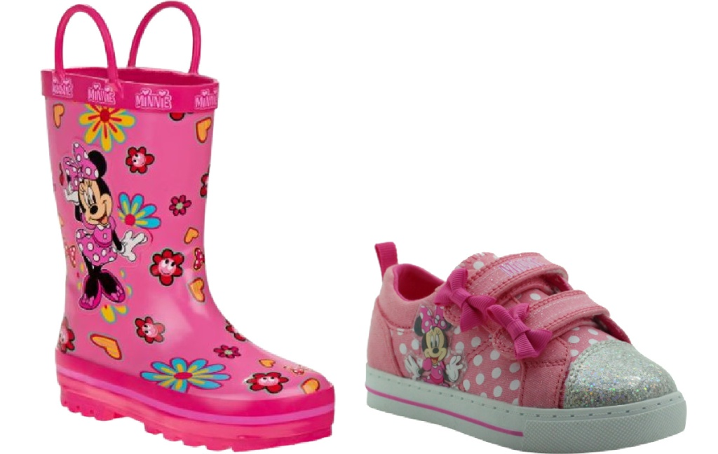 minnie mouse rain boots and sneakers