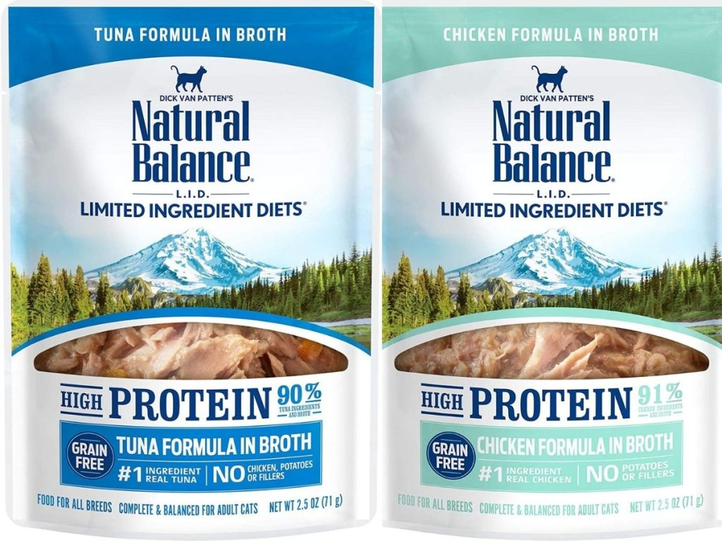 natural balance cat food pouches