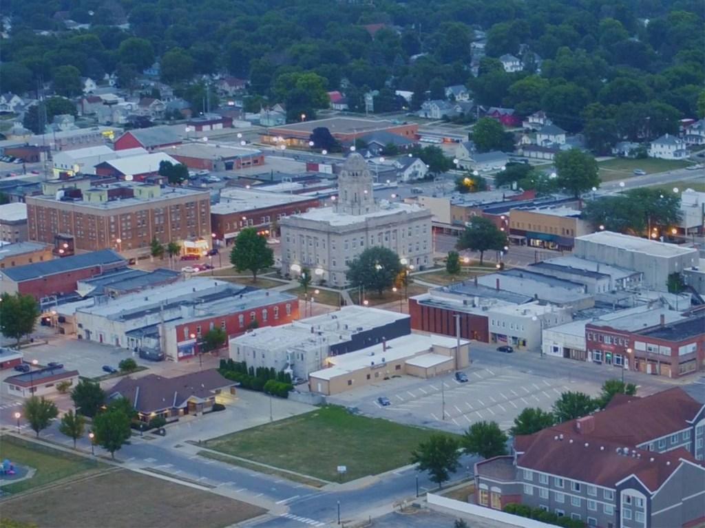 aerial view of Newton, Iowa