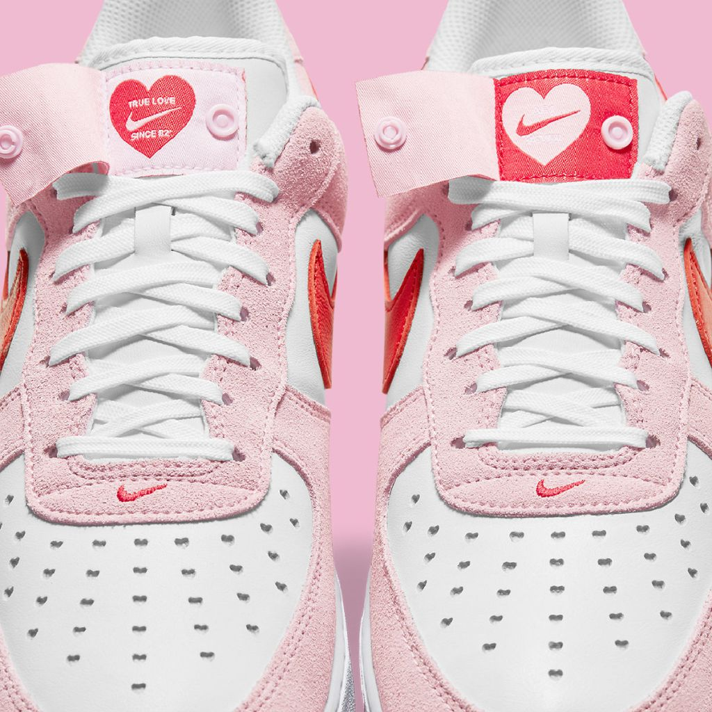 Nike Air Force 1 shoes in Valentine colors