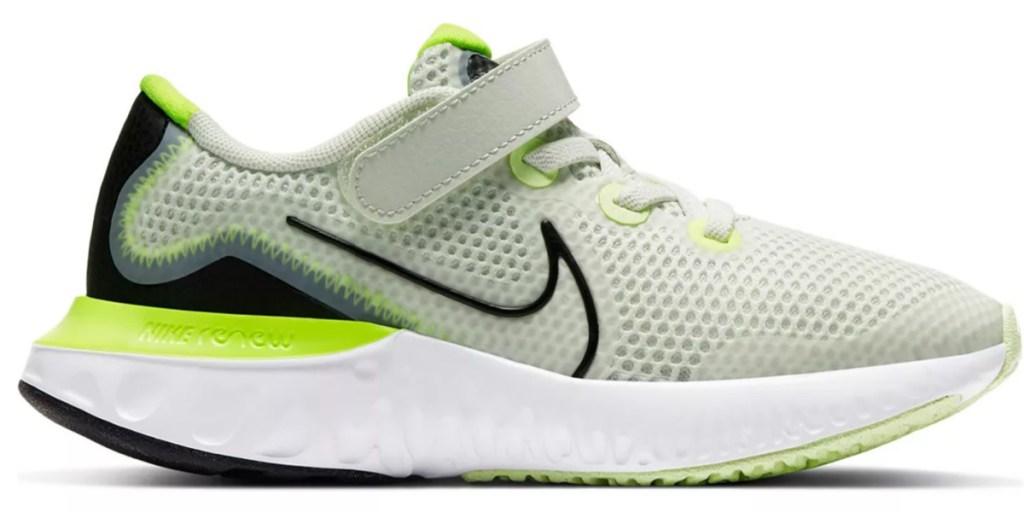nike preschool shoe white and green