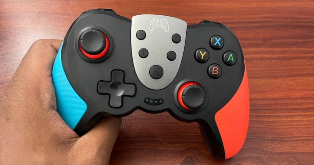 nintendo switch controller in hand
