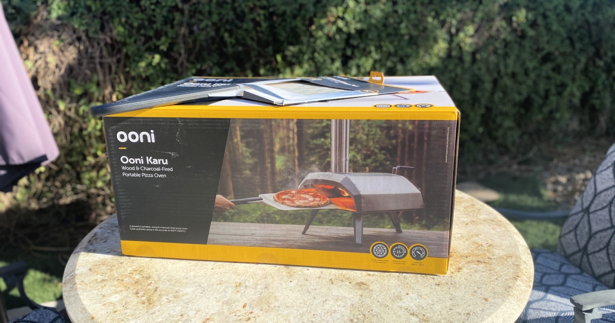 ooni Pizza oven in the box