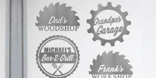 Men's Personalized Metal Signs Only $19.99 Shipped | Great Father's Day Gift Idea