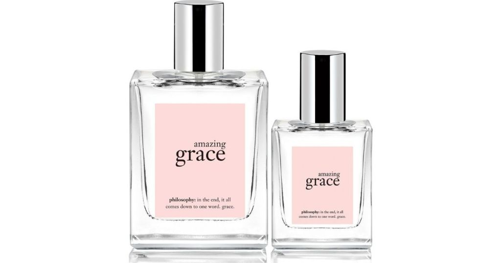 two bottles of philosophy amazing grace perfume