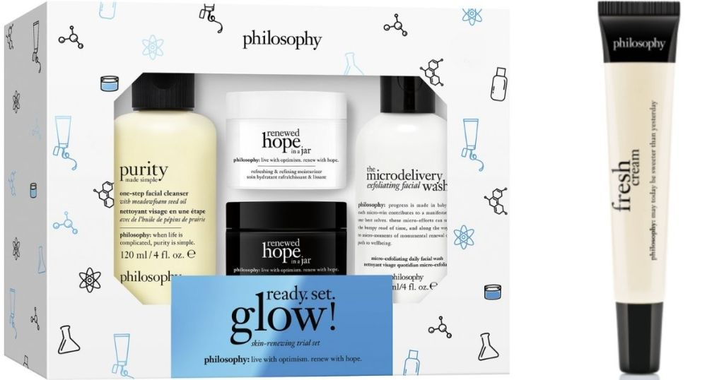 philosophy gift set and gloss