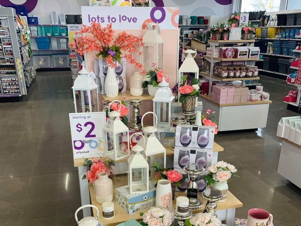 spring display at pOpshelf store
