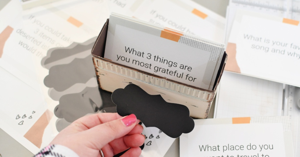 printale conversation cards box with label