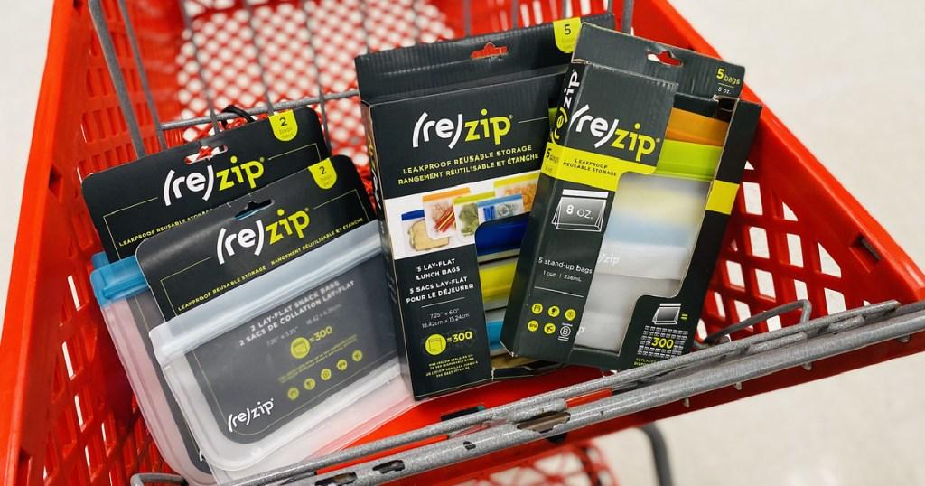 rezip storage bags in Target cart