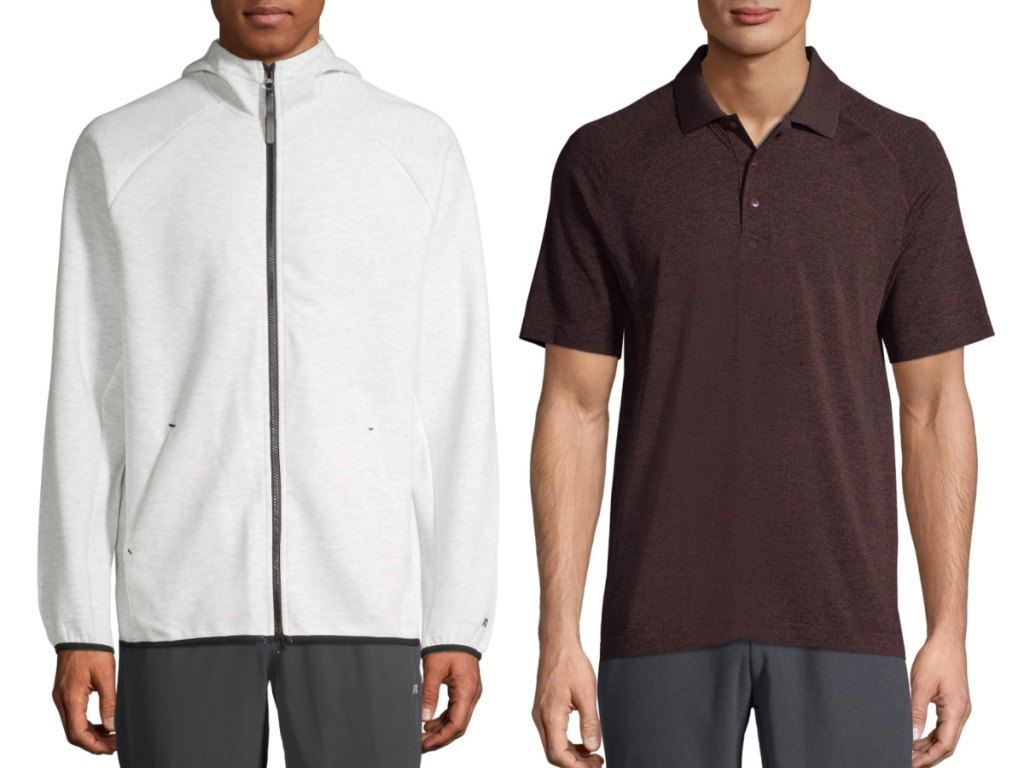 russell men's white jacket and polo