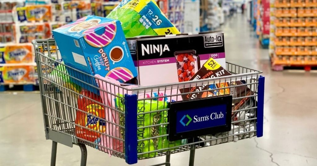 Sam's Club cart filled with food