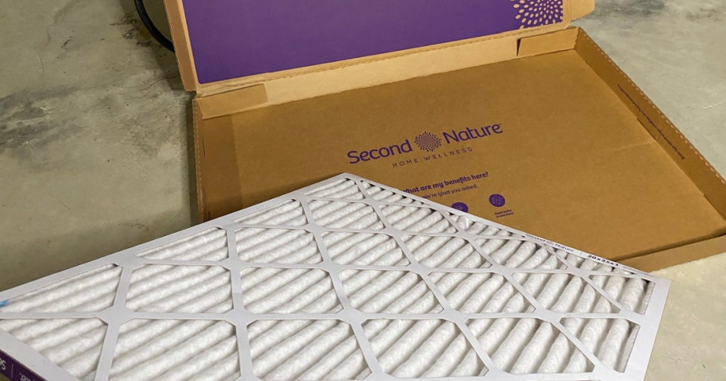 second nature air filter in box