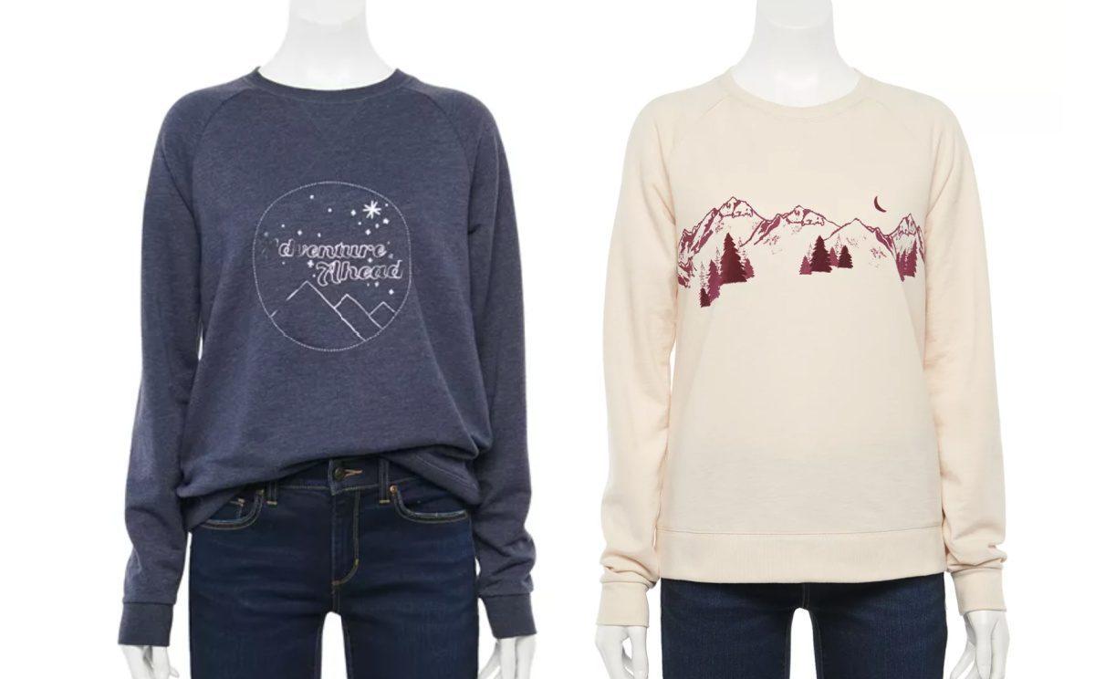 two sonom goods for life graphic sweatshirts