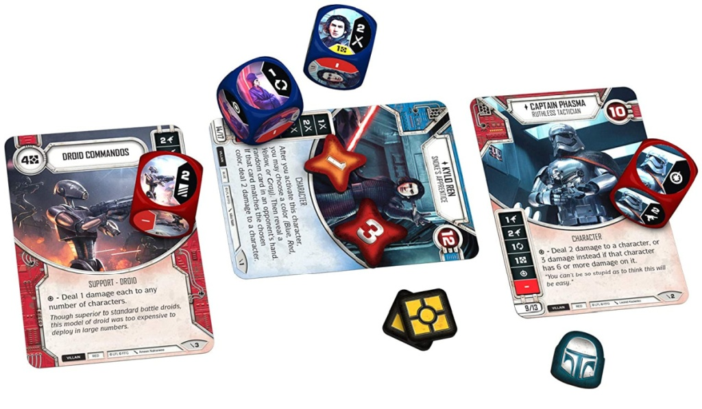 star wars destiny dice and cards