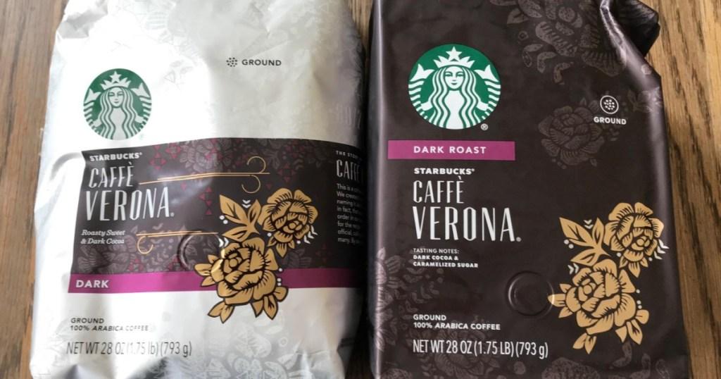starbucks coffee two bags