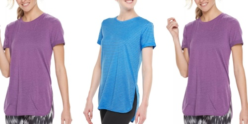 Tek Gear Women's Quick-Dry Tees Only $14 on Kohls.com (Regularly $26)