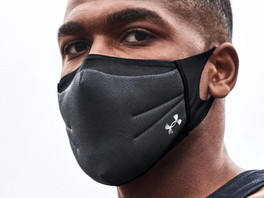 man wearing Under Armour mask