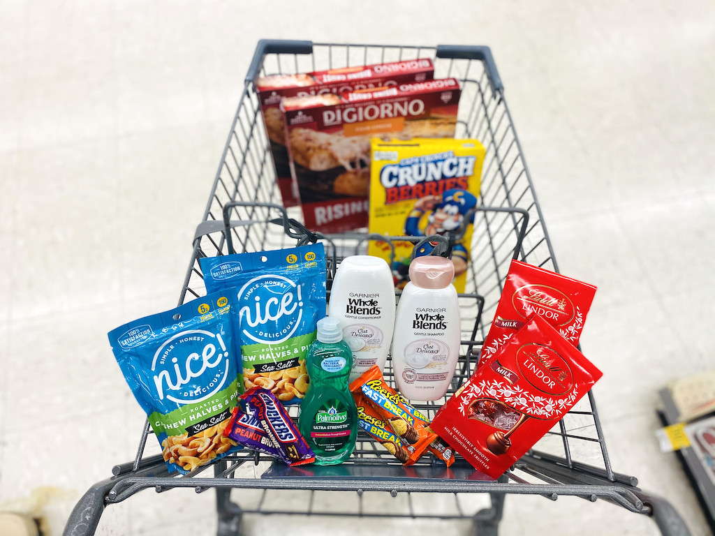 Walgreens cart filled with goodies