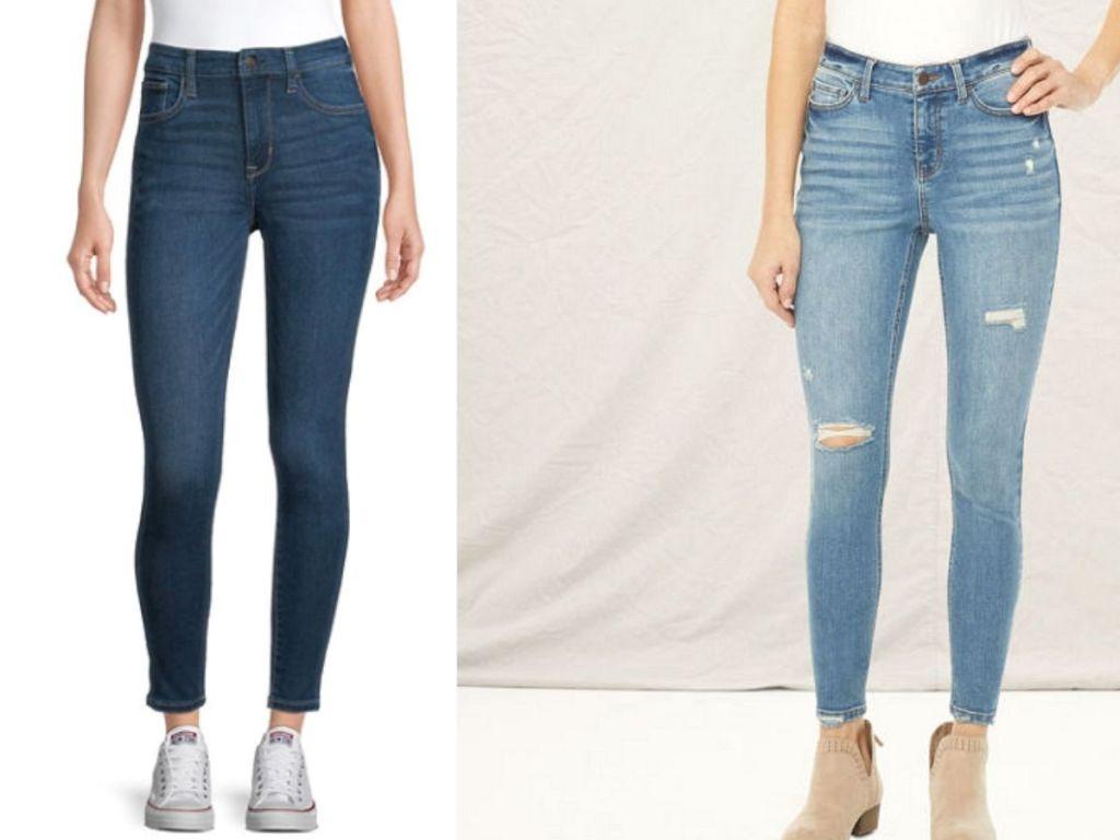 women wearing denim jeans
