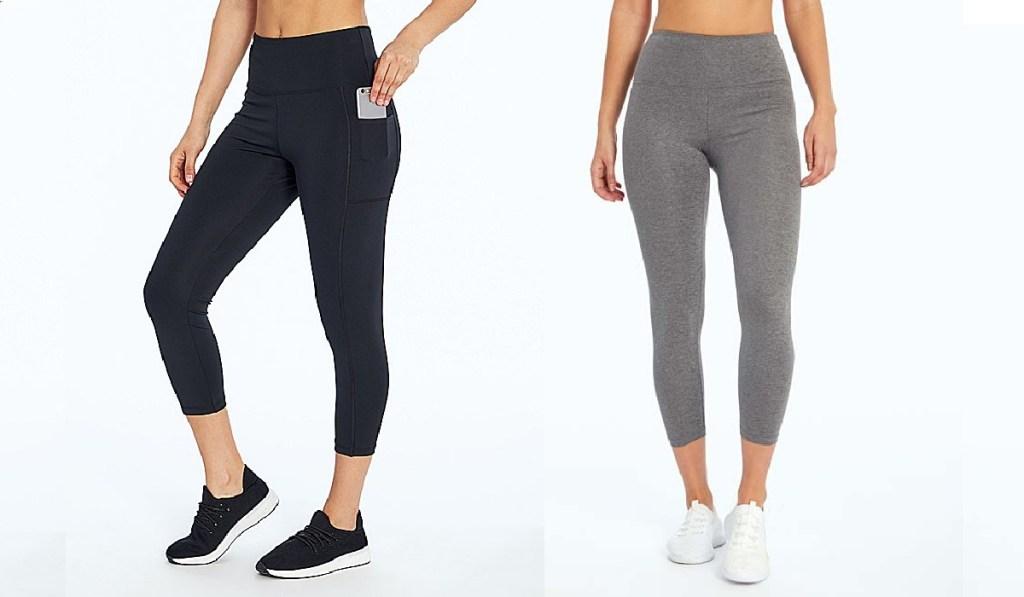 bally womens leggings gray and black