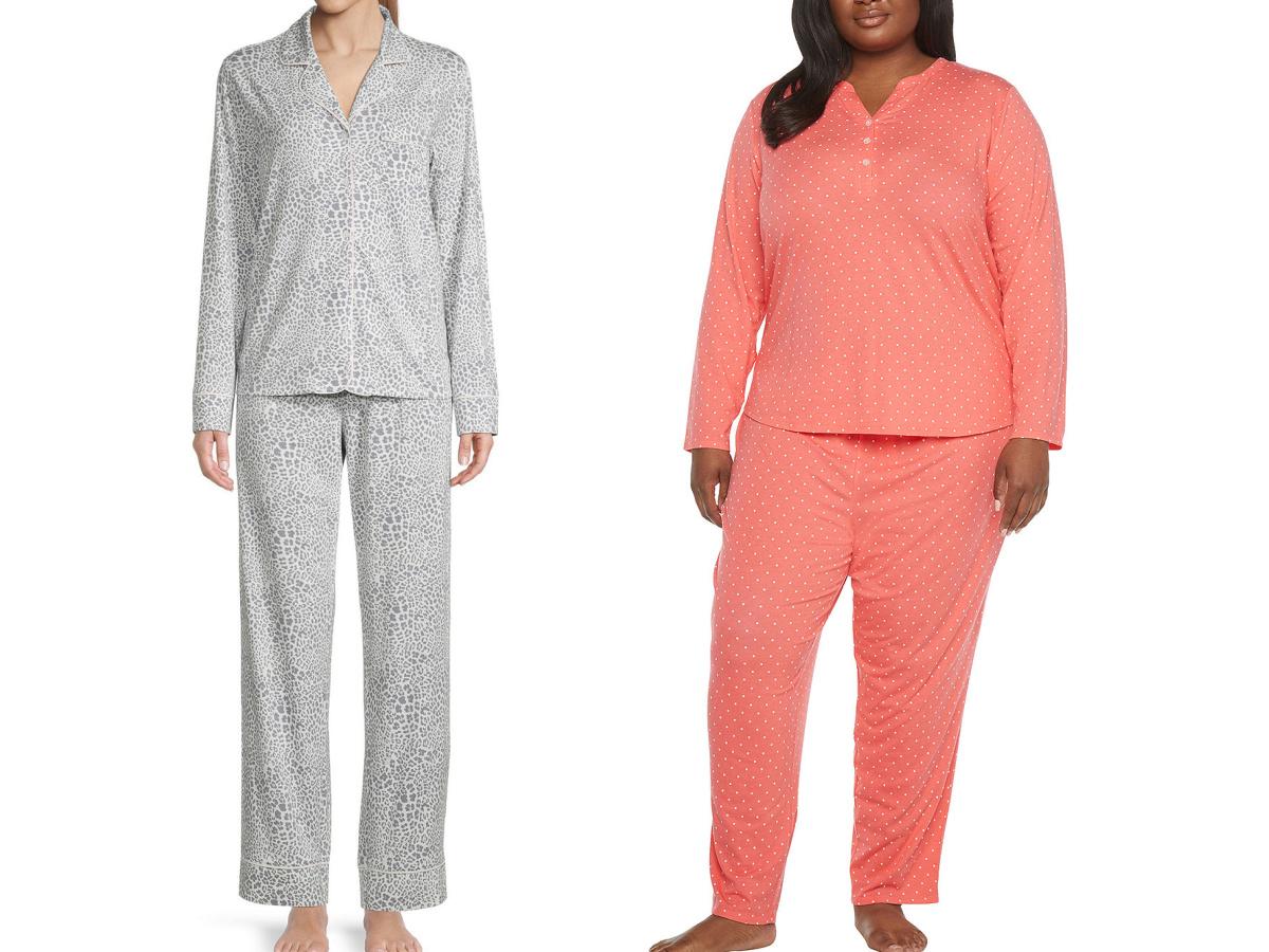 women wearing 2-piece pajamas