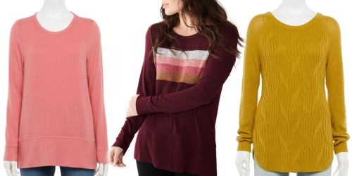 Up to 70% Off Sonoma Goods for Life Women's Sweaters on Kohl's.com