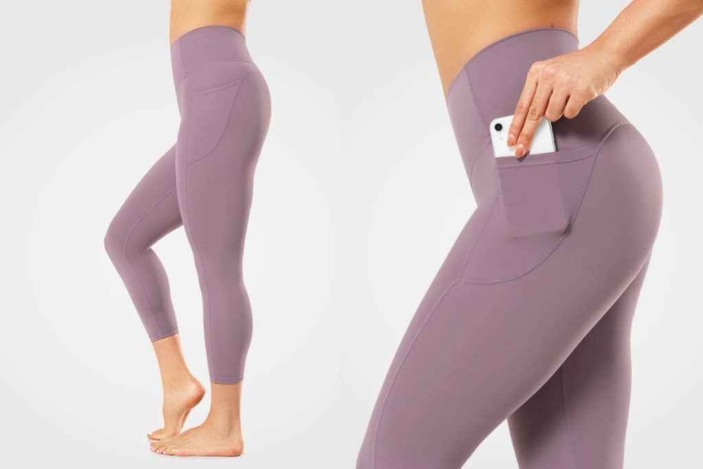yvette pocket legging blush with phone in pocket