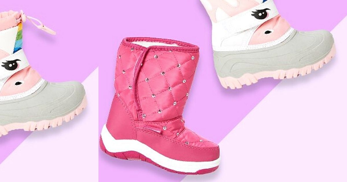 unicorn and pink rhinestone boots with pink background