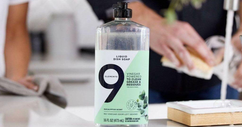 9 Elements Dish Soap Eucalyptus