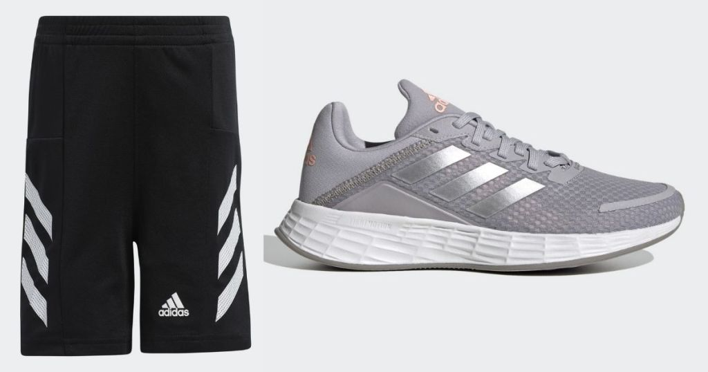 Adidas Youth Shorts and Sneakers