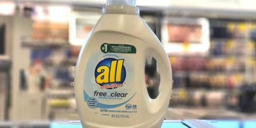 All Free & Clear Laundry Detergent 88oz Bottle Only $4.54 Shipped on Amazon