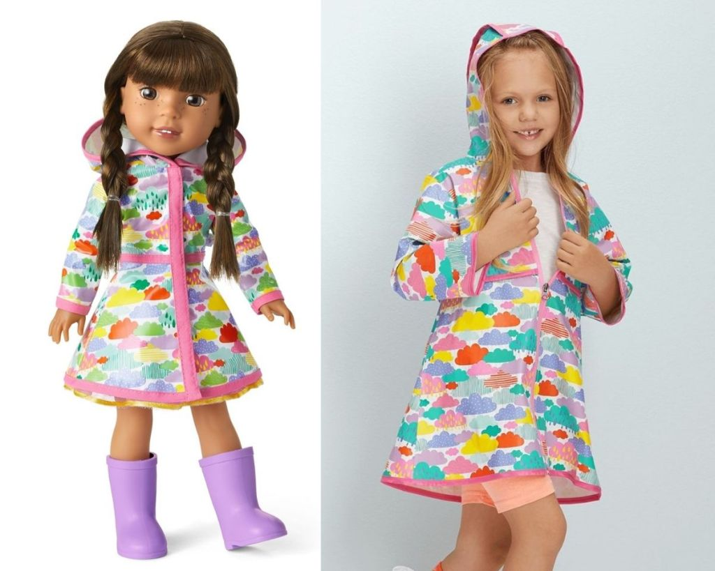 American Girl Rainy Day Raincoat for Doll and Girl