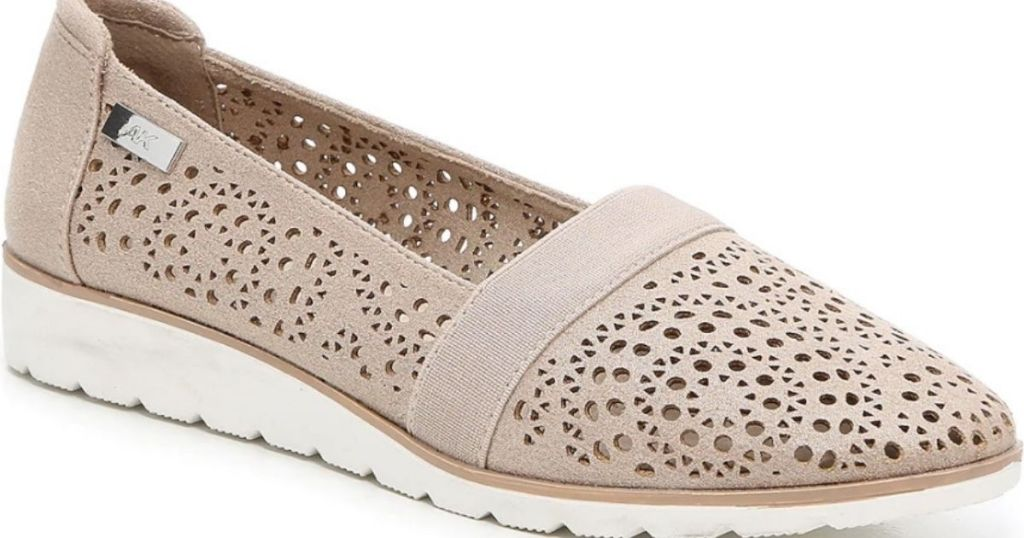 Anne Klein sporty taupe flats