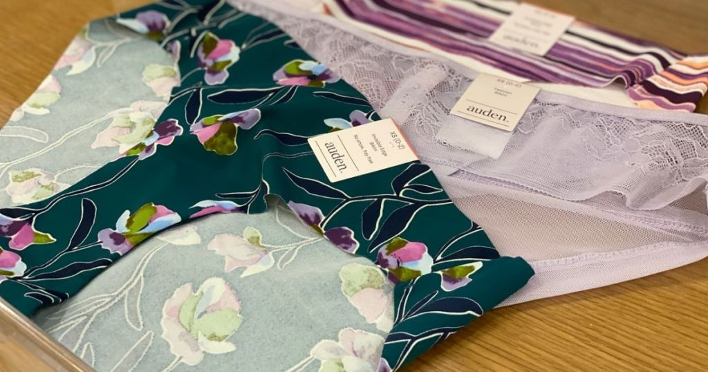 3 pairs of Target brand Auden Panties for women